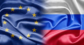 EU and Russia — Stock Photo