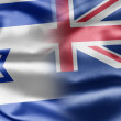 Israel and New Zealand — Stock Photo