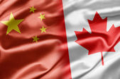 Kina och kanada — Stockfoto