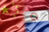 China e paraguai — Fotografia Stock