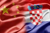 Kina och kroatien — Stockfoto