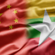 China and Myanmar — Stock Photo
