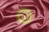 Flagga kirgizistan — Stockfoto
