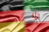 Niemcy i iran — Zdjęcie stockowe