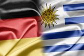 Tyskland och uruguay — Stockfoto