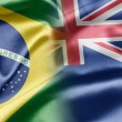 Brazil and New Zealand — Zdjęcie stockowe