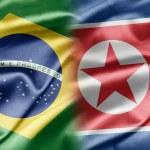 Brasil y Corea del norte — Foto de Stock