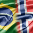 Brazil and Norway — Foto Stock