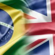 Brazil and UK — Stok fotoğraf