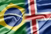 Brasilien und island — Stockfoto