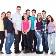 Happy smiling group of young friends together — Stock Photo