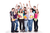 Large students group — Stock Photo