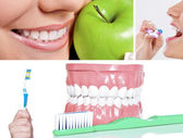 Healthy teeth collage — Stock Photo