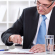 Businessman stamping document , approve contract — Stock Photo
