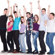 Happy large group — Stock Photo #10884029