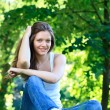 Young woman relaxing outdoor — Stock Photo #11467599