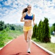 Runner - woman running — Foto Stock