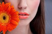 Beautiful woman's mouth — Stock Photo