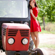 Farm girl — Stock Photo