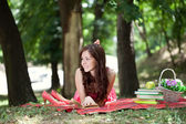 Young student relaxing — Stock Photo
