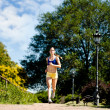 Woman jogging - Stock Photo