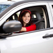 Woman driver — Stock Photo