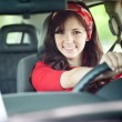 Girl in Car — Stock Photo #11970264
