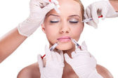 Facial care – Botox — Stock Photo