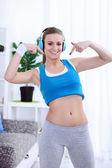 Belle sportive en bonne santé — Photo