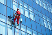 Windows cleaning service — Stok fotoğraf