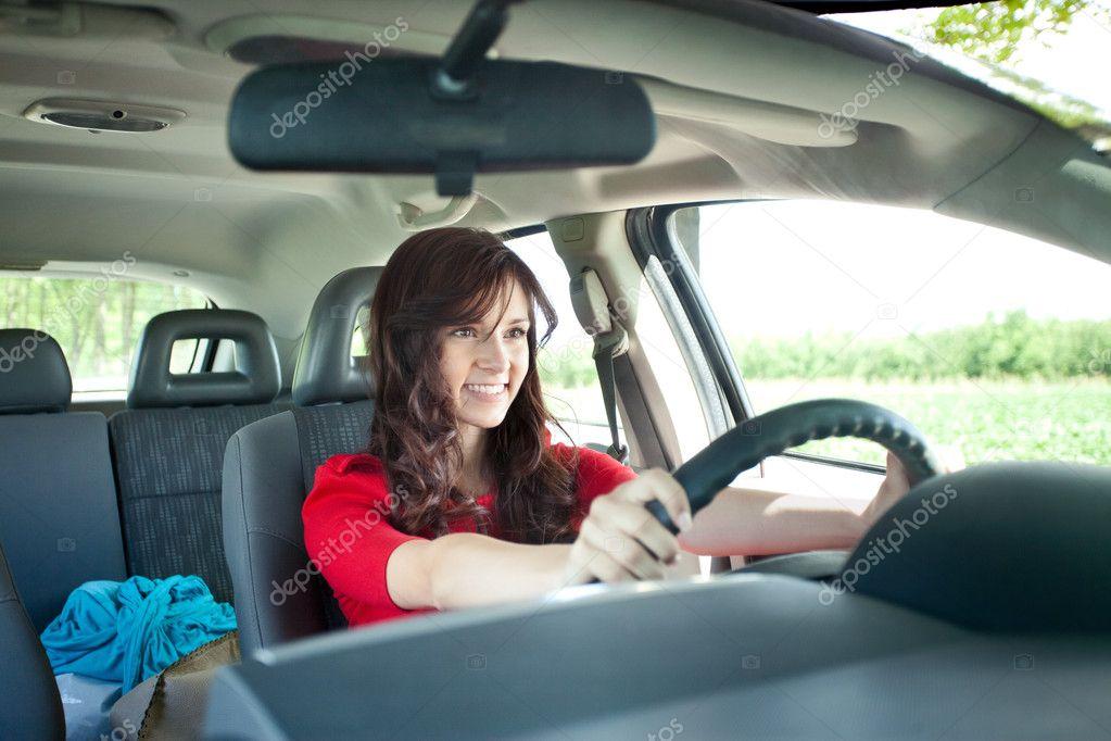 beautiful girl in car - photo #28