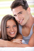 Portrait of young love couple — Stock Photo
