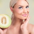 Постер, плакат: Women with healthy skin thanks to the melons