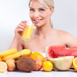 Healthy lifestyle with tropical fruit — Stock Photo