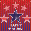 Royalty-Free Stock Vector Image: Independence Day of 4th July.