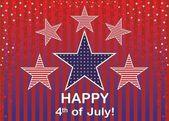Tag der unabhängigkeit vom 4. juli. — Stockvektor