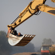 Works at construction site — Stock Photo