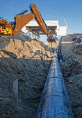 Pipeline at construction site — Stock Photo