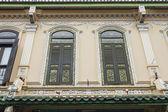 Traditionele windows op peranakan huis — Stockfoto