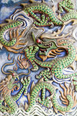 Dragons Motif on Chinese Temple Wall — Stock Photo