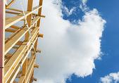 Nieuwe huisbouw inlijsten. fragment. — Stockfoto