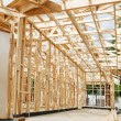 New home construction framing. — Stock Photo #12151724