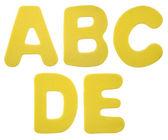 Foam plastic alphabet — Stock Photo