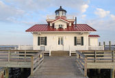 The Roanoke Marshes Lighthouse in Manteo, North Carolina — Stok fotoğraf