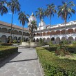 Courtyard at the church of San Francisco in Quito, Ecuador — Lizenzfreies Foto