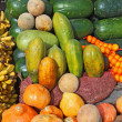 Royalty-Free Stock Photo: Fruit and vegetables at a roadside stand in Ecuador