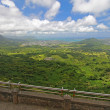 The windward coast of Oahu from the Nuuanu Pali Lookout - Foto de Stock