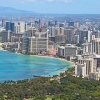 Aerial skyline of Honolulu including the hotels around Waikiki B — Foto Stock