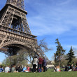 Tourists at the Eiffel Tower — Stock Photo #10741372