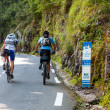 Amatuer Cyclists Climbing Col d'Aubisque — Stock Photo #10741462